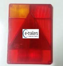 LEFT Radex 6800 Replacement LENS Rear Trailer Lights Ifor Williams P6 Mk1